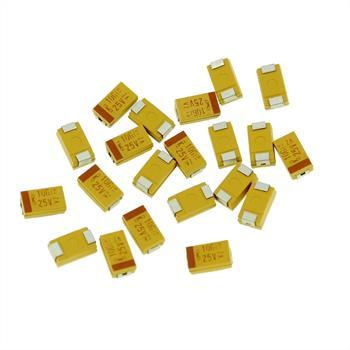 Tantal Kondensator SMD 10µF 25V 125°C ; Gr. D ; B45196E5106K409 ; 10uF