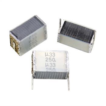 MKT-Kondens. rad. 0,33µF 250VDC RM10