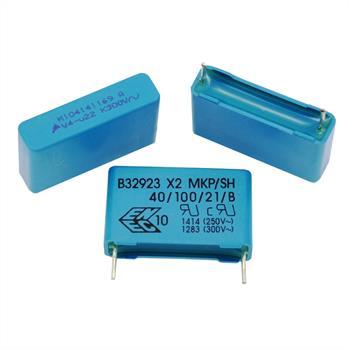 MKP-Kondens. rad. 0,22µF 300VAC RM22,5