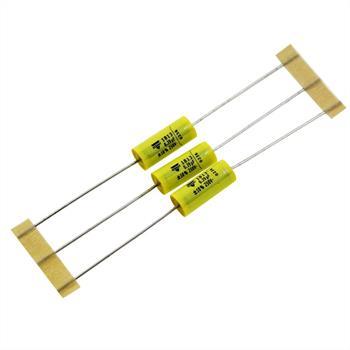 MKT-Kondensator axial 0,39µF 250V DC ; 7x18mm ; MKT18134392551 ; 390nF