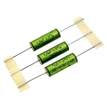 MKT-Kondensator axial 1,5µF 250V DC ; 11x31,5mm ; MKT181351525425 ; 1,5uF