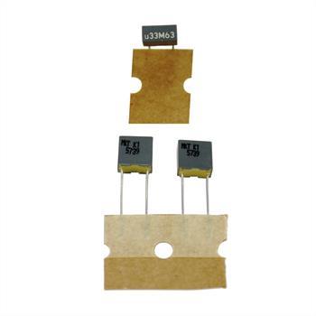 MKT-Capacitor rad. 0,33µF 63V DC ; 5mm ; R82DC33303305M ; 330nF