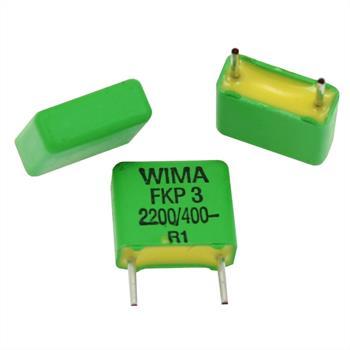 KP-Kondensator radial 2,2nF 400V DC ; RM7,5 ; FKP3 2200pF/20%/400V ; 2200pF