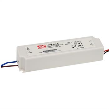 LED power supply 60W 12V 5A ; MeanWell, LPV-60-12 ; Switching power supply
