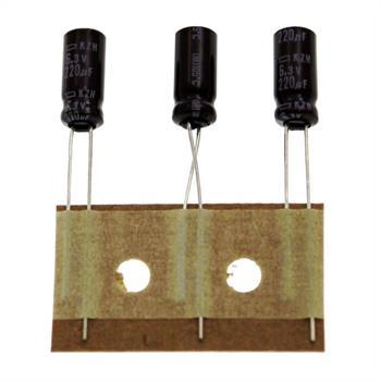 Electrolytic Capacitor rad. 220µF 6,3V 105°C ; EKZH6R3ETD221ME11D 220uF