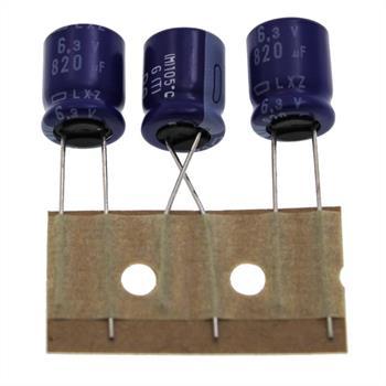 Elko Kondensator radial 820µF 6,3V 105°C ; ELXZ6R3ETD821MJC5S ; 820uF