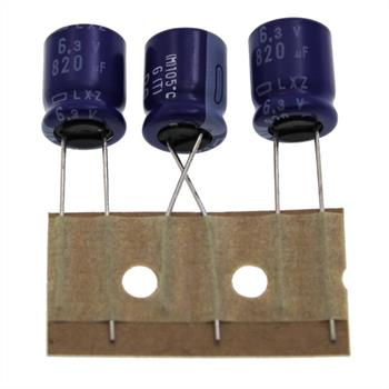 Elko Kondensator Radial 820µF 6,3V 105°C ELXZ6R3ETD821MJC5S d10x12,5mm 820uF