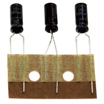 Elko Kondensator Radial 100µF 10V 105°C EKY-100ETC101ME11D d5x11mm 100uF