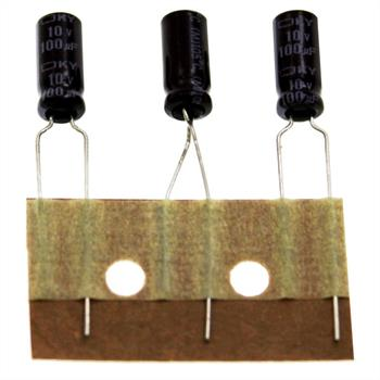Elko Kondensator radial 100µF 10V 105°C ; EKY-100ETC101ME11D ; 100uF