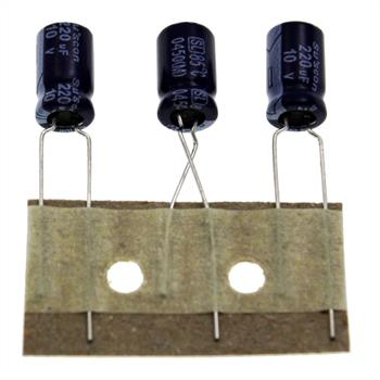 Elko Kondensator Radial 220µF 10V 85°C SL010M221E11P50R d63x11mm 220uF