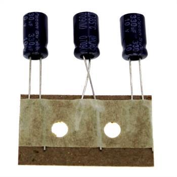 Elko Kondensator Radial 330µF 10V 85°C ML010M331E11TXXXP25R d6,3x11mm 330uF