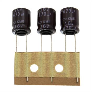Elko rad. 470µF 16V 105°C RM5 10x12,5mm