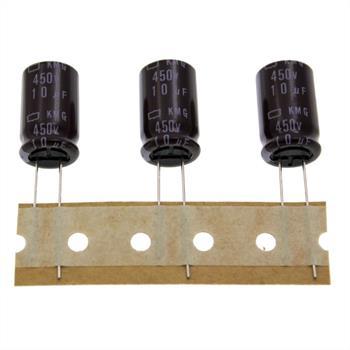 Elko Kondensator radial 10µF 450V 105°C ; EKMG451ETE100MK20S ; 10uF