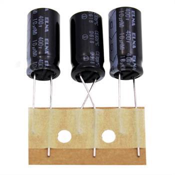 Elko Kondensator radial 10µF 400V 105°C ; RJ4-400V100MH5#-T5 ; 10uF