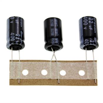 Elko Kondensator Radial 22µF 400V 105°C MK400M220I21P50R d13x21mm 22uF