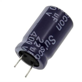 Elko Kondensator Radial 22µF 400V 105°C ML400M220I21T008P d13x21mm 22uF