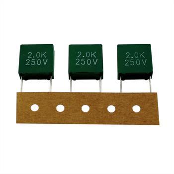 MKT-Kondens. rad. 2µF 250VAC RM15