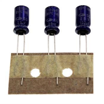 Elko Kondensator radial 100µF 25V 85°C ; 100uF