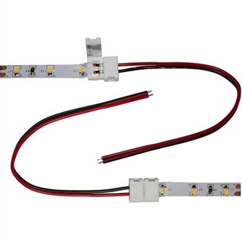 Connector for LED Strip Strips 8mm ; 1 Clip + 1 cable 15cm