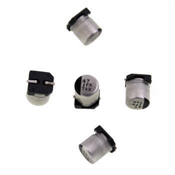 SMD Elko Kondensator 47µF 6,3V 105°C ; EEVFK0J470R ; 47uF