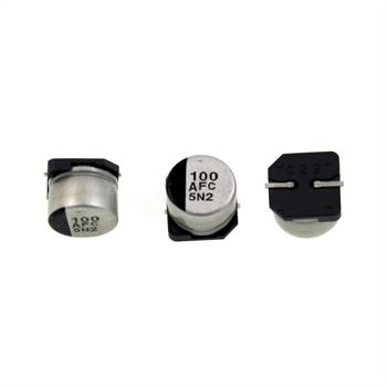 SMD-Elko 100µF 10V 105°C 8x6,2mm