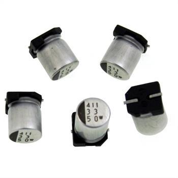 SMD Elko Kondensator 33µF 50V 105°C ; NACEW330M50V63X8TR13 ; 33uF