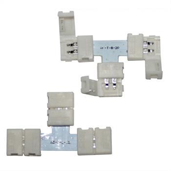 Verbinder / Connector für LED-Streifen 8mm ; T - Profil ; T - Verbinderr