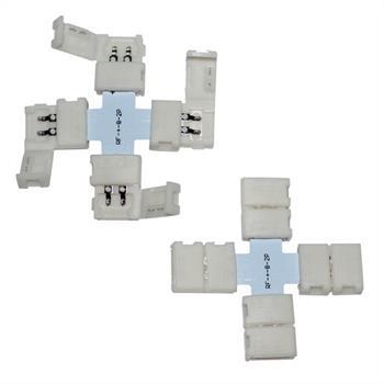 Verbinder / Connector für LED-Streifen 8mm ; + Profil ; + Verbinder