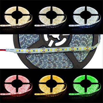 5m (500cm) LED Streifen Band Leiste 12V IP65 600LEDs 120LED/m SMD3528