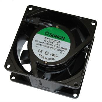 Ventilator / Fan 230V 18W 80x80x38mm 39m³/h 31dBA ; Sunon SF23080A2083HSL