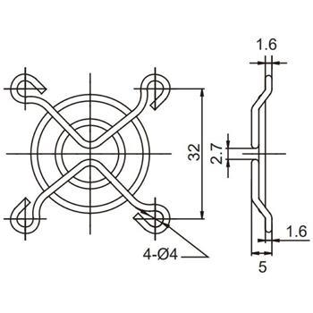 Sunon Lüftergitter 40x40mm für Lüfter 40x40x6mm 40x40x10mm 40x40x20mm