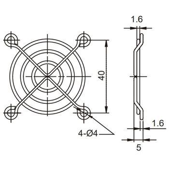 Sunon Lüftergitter 50x50mm für Lüfter 50x50x10mm 50x50x15mm
