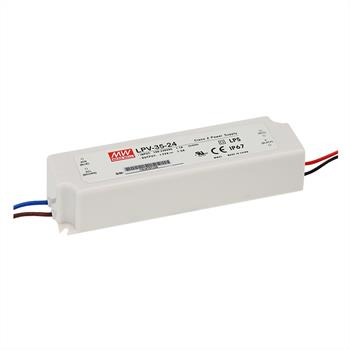 LED power supply 36W 24V 1,5A ; MeanWell, LPV-35-24 ; Switching power supply