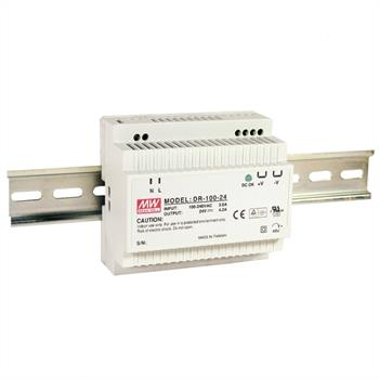 Din-Rail power supply 100W 24V 4,2A ; MeanWell, DR-100-24
