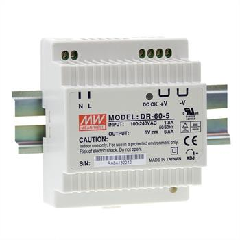 Din-Rail power supply 60W 15V 3A ; MeanWell, DR-60-15