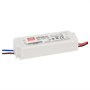 LED power supply 20W 12V 1,67A MeanWell, LPV-20-12 ; Switching power supply