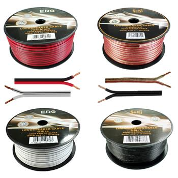 Loud Speaker Audio Cable 100m - 2x2,5mm² - 100% CCA Copper