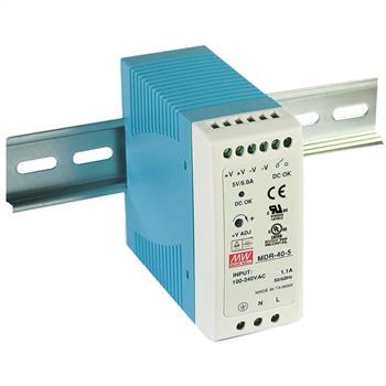 Hutschienen Netzteil 30W 5V 6A ; MeanWell, MDR-40-5 ; Hutschienennetzteil