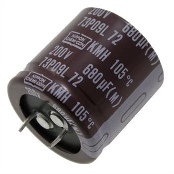 Snap-In Elko 680µF 200V 105°C 30x30mm