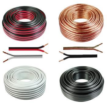 Loud Speaker Audio Cable 50m - 2x4mm² - 100% CCA Copper