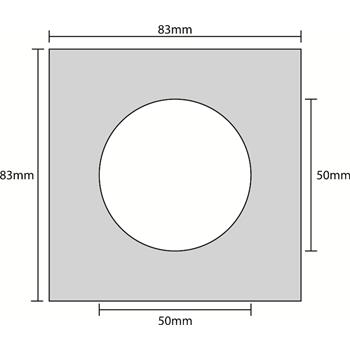 Installation frame for LED Spotlights - Round/Square - Alu/Chrome/Brass/White
