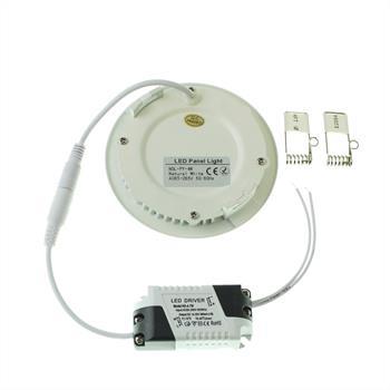 LED Downlight Panel rund 4W 105x20mm 350...450lm ; Einbauleuchte Deckenlampe
