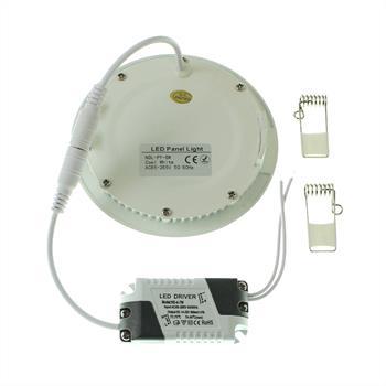 LED Downlight Panel rund 6W 120x20mm 500…600lm ; Einbauleuchte Deckenlampe