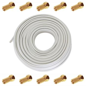 50m TV & Satellite Coaxial Cable 120dB 4x shielded ; DIGITAL 3D HD