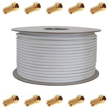 100m Sat Koax Kabel 135db 5x geschirmt ; Koaxialkabel Antennenkabel 3D HD