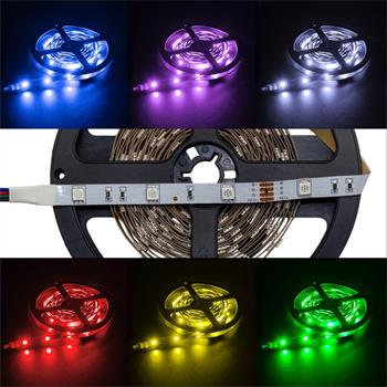 RGB LED Streifen 12V, IP20, 30LED/m, 5m