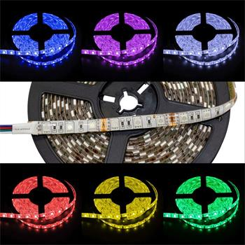 RGB LED Streifen 12V, IP65, 60LED/m, 5m