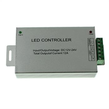 RGB LED IR Controller Wireless + 24Key Remote Control 144W 12V / 288W 24V - 12A
