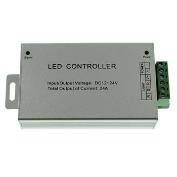 RGB LED IR Controller Wireless + 44Key Remote Control 288W 12V / 576W 24V - 24A