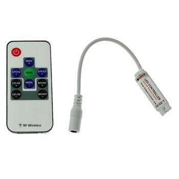 Mini RGB LED RF 10Key Controller 12...24V 144W für Farbwechsel Streifen 4-Pin